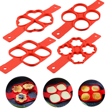 (Global Shop) Nonstick Easy Silicone Pancake Egg Ring Maker - SevenAndEight - mylife-sa.myshopify.com