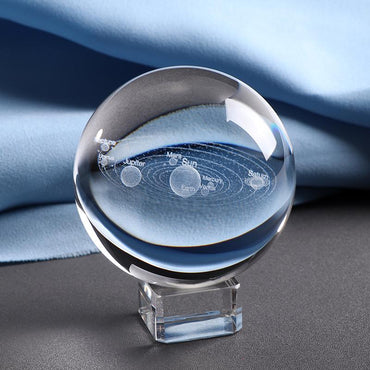 (Global Shop) 6CM Laser Engraved 3D Solar System Crystal Ball - My Life  - mylife-sa.myshopify.com