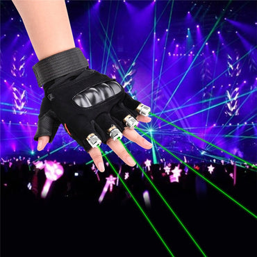 (Global Shop) Red Green LED Palm Party Laser Gloves