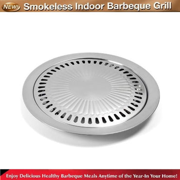 (Global Shop) New Nonstick Smokeless Stovetop Grill Pan