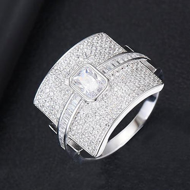 (Global Shop) Luxury Statement Stackable Cubic Zircon Women Rings