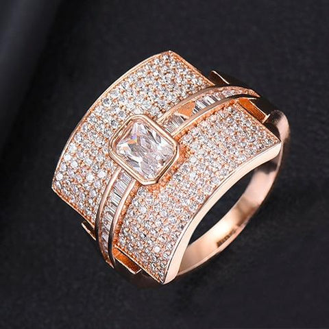 (Global Shop) Luxury Statement Stackable Cubic Zircon Women Rings - Observe - mylife-sa.myshopify.com