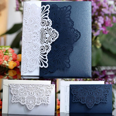 (Global Shop) 10pcs/set European Style Laser Cut Wedding Invitation Cards