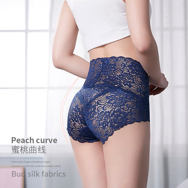 (Global Shop) Seamless Women High Waist Slimming Lace Pantie