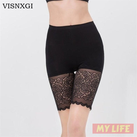 (Global Shop) Women Lace Solid Color High Waist Under Short