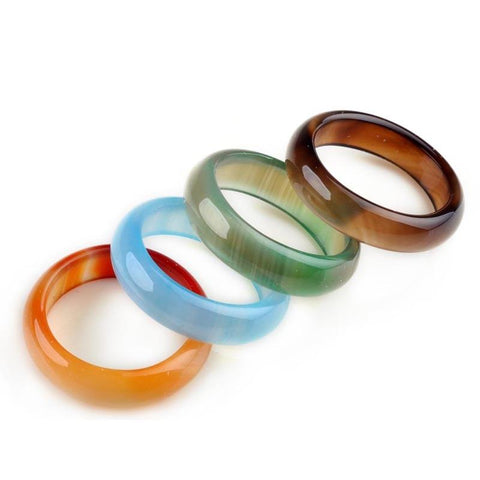 (Global Shop) 20Pcs/Lot Mixed Natural Stone Unisex Rings