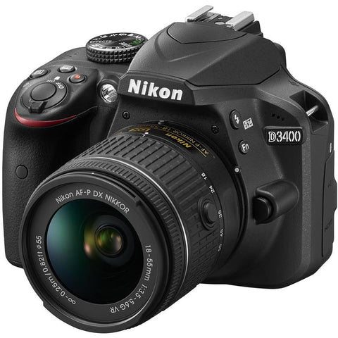 (Special Ad) Nikon D3400 Camera with AF-P DX NIKKOR 18-55mm f/3.5-5.6G VR