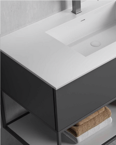 "Multifamily- Dark Grey Marseille 35"" Bathroom Vanity-Maison Bertet Online"