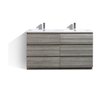 "Load image into Gallery viewer, Los Angeles 60"" Double Sink Bathroom Vanity-Maison Bertet Online"