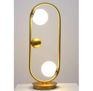 Brass glass ball  Desk lamp light