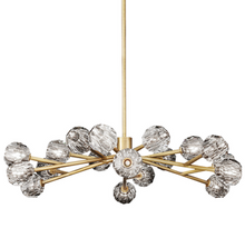 Load image into Gallery viewer, Brass stem multi globe chandelier