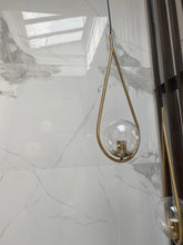 Load image into Gallery viewer, Brass Clear Ball Pendant