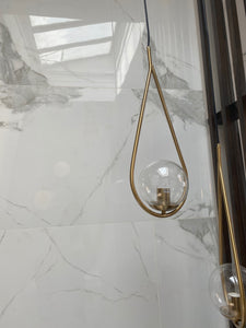 Brass Clear Ball Pendant
