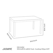 Load image into Gallery viewer, Jasmine Dining Collection-Maison Bertet Online