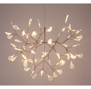 Rose Gold Tree Branch Chandelier LED Light