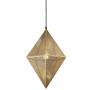 Gold Moroccan Pendant Light