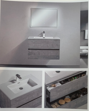Load image into Gallery viewer, Cemento White Sink 47""