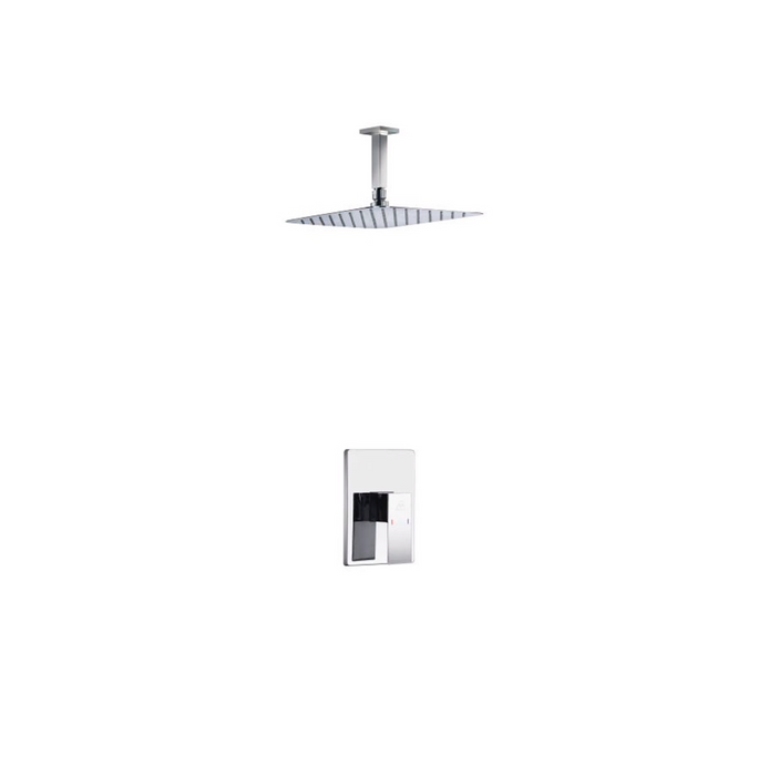 Waterfall Chrome Ceiling Shower Set