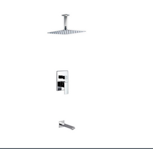 Waterfall Chrome Ceiling Shower & Bath Complete Set