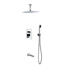 Load image into Gallery viewer, Waterfall Chrome Ceiling Shower & Bath Absolute Complete Set