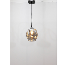 Load image into Gallery viewer, Sculptured Glass Ball Pendant Light