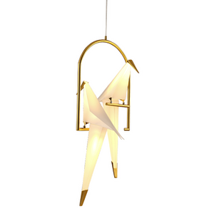 Shiny Gold Bird LED Light Pendant