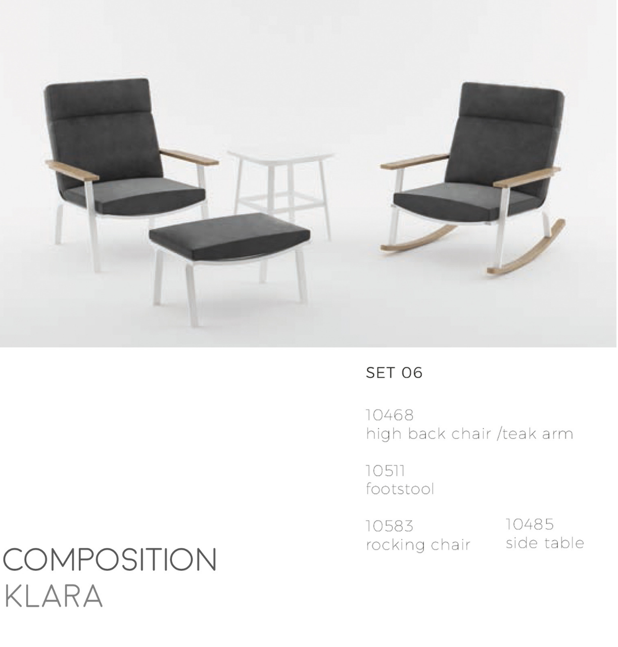 Klara Rocking Chair-Maison Bertet Online