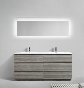 "Los Angeles 60"" Double Sink Bathroom Vanity-Maison Bertet Online"