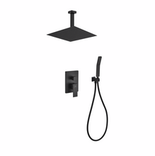 Load image into Gallery viewer, Waterfall Ceiling Black Shower Complete Set