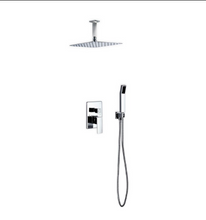 Load image into Gallery viewer, Waterfall Chrome Ceiling Shower Complete Set