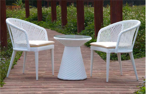 Criss Cross White Dining Arm Chair