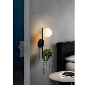 wall-mount globe storage sconce light