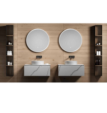 "Load image into Gallery viewer, Multifamily- White Marble Style 30"" Bathroom Vanity-Maison Bertet Online"