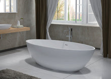 Load image into Gallery viewer, Modern White Stone Nice Free Standing Bathtub