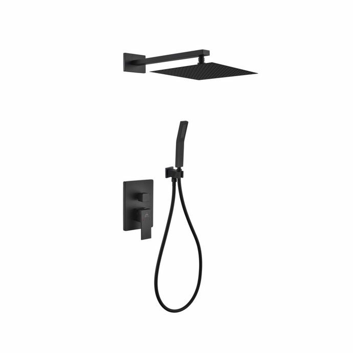 Waterfall Black Shower Complete Set