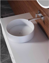 "Load image into Gallery viewer, Multifamily- Sophisticated White Marble Style 59"" Bathroom Vanity-Maison Bertet Online"