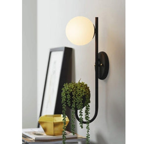 wall globe storage sconce light