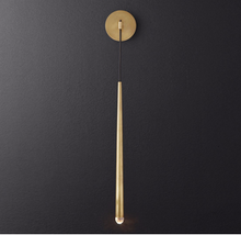 Load image into Gallery viewer, Antique Brass Wall Light Hardwired Pendant
