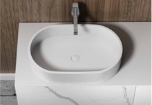 "Load image into Gallery viewer, Multifamily- White Marble Style 40"" Bathroom Vanity-Maison Bertet Online"
