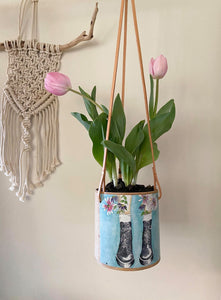 Daisy Boots Planter (hanging)