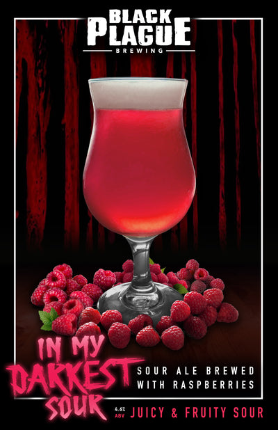 In My Darkest Sour (Raspberry Kettle Sour Ale) 12oz 6-Pack