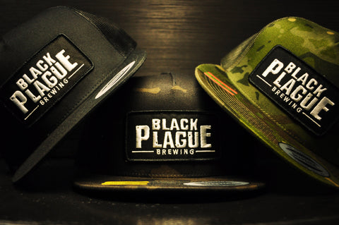 Black Plague Camo Mesh Hat - Black
