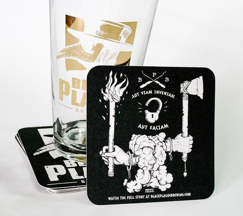 Black Plague Coaster Pack - Black Plague Brewing Shop