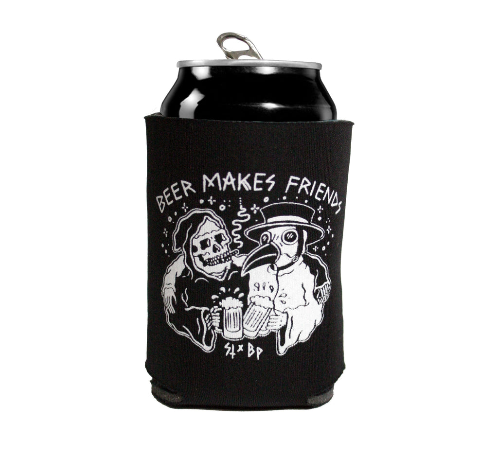 Beer Makes Friends - Koozie - Black Plague Brewing Shop