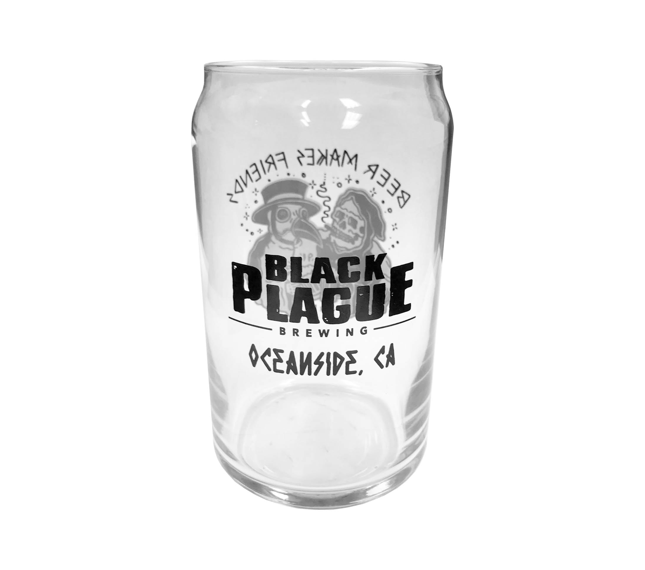 16oz Pint Glass - Beer Makes Friends