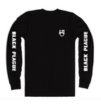 BLACK PLAGUE Sleeve Print L/S Tee - Black