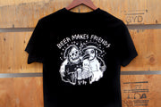 Beer Makes Friends (Sketchy Tank) S/S Tee - Black