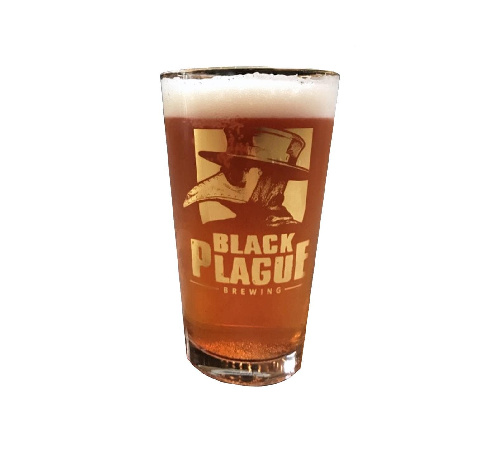 Plague Doctor Pint Glass - Black Plague Brewing Shop