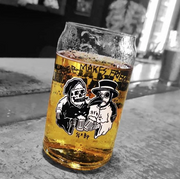 16oz Pint Glass - Beer Makes Friends (Sketchy Tank)