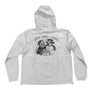 Beer Makes Friends (Sketchy Tank) Pullover Anorak Jacket